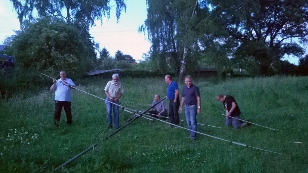 Antennenaufbau bei DL0TY